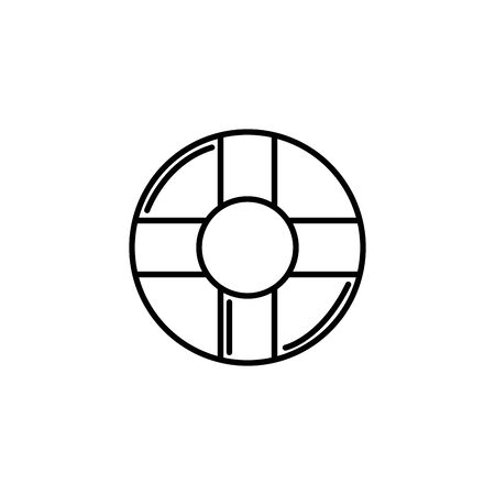 lifebuoy nautical summer icon line