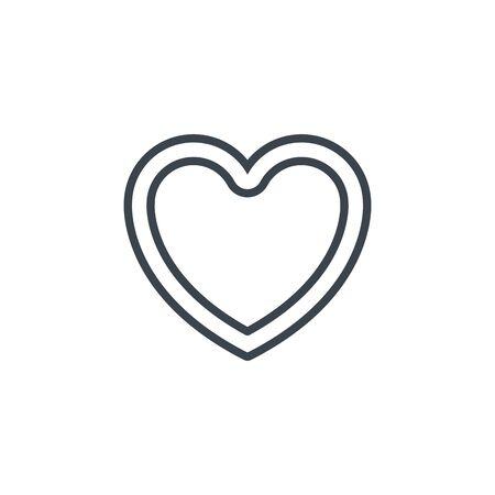 heart romantic icon line design