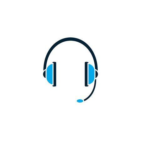 Isolated headphone icon vector design Ilustrace