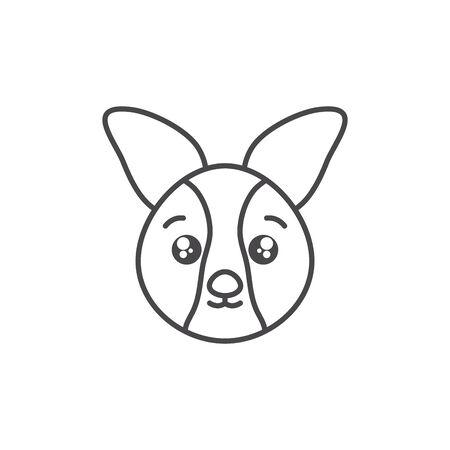 cute dog animal line style