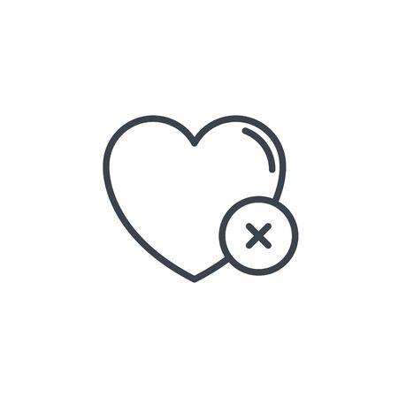 heart error icon line design