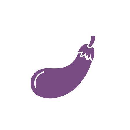 Isolated eggplant vegetable vector design