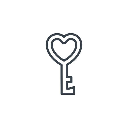 key love heart icon line design