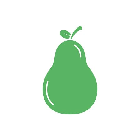 Isolated pear fruit vector design