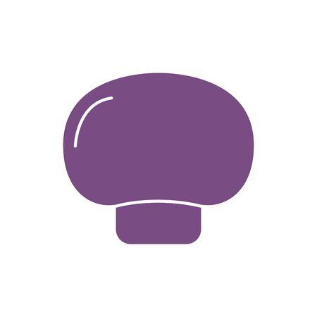 Isolated mushroom vegetable vector design Ilustracja