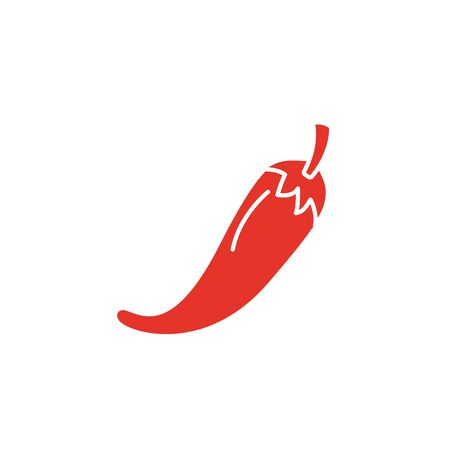 Isolated chilli vegetable vector design