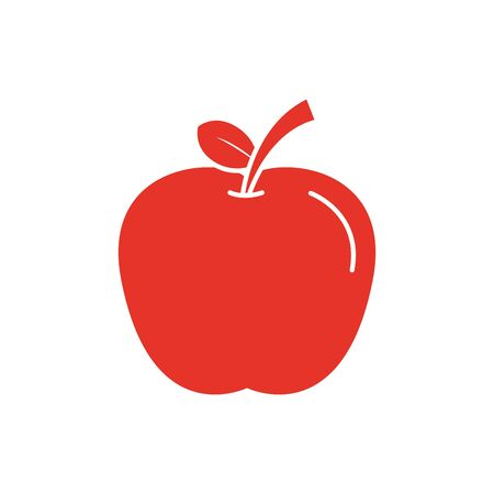 apple design, Fruit healthy organic food sweet and nature theme Vector illustration