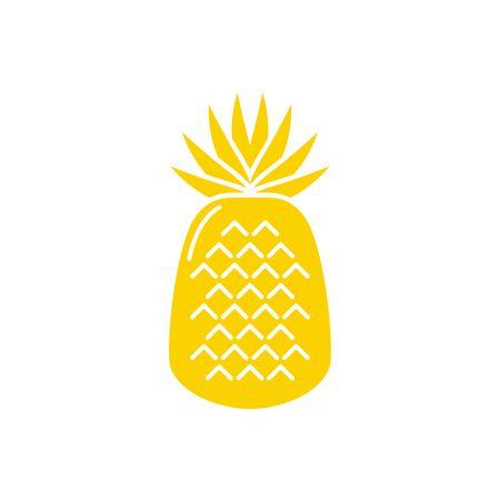 Isolated pineapple fruit vector design Illusztráció