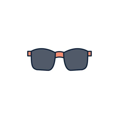 sunglasses accessory summer icon line and fill Ilustração