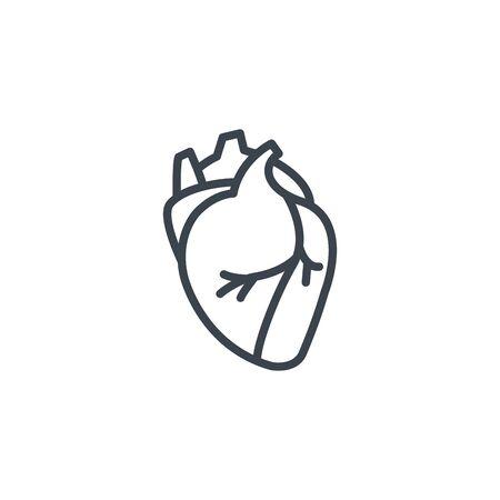 human organ heart icon line design  イラスト・ベクター素材