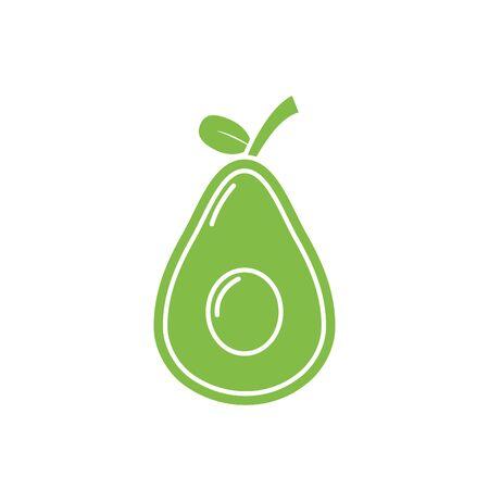 Isolated avocado fruit vector design Illusztráció