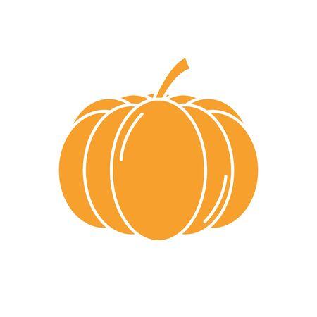Isolated pumpkin vegetable vector design Illustration