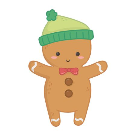 gingerbread man warm hat decoration merry christmas