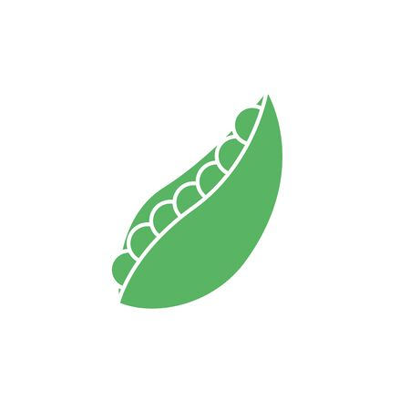 Isolated peas vegetable vector design Illustration