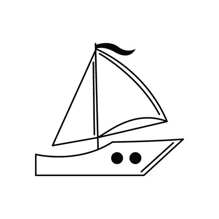 sailing boat transport vacation travel icon