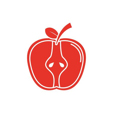 Isolated apple fruit vector design