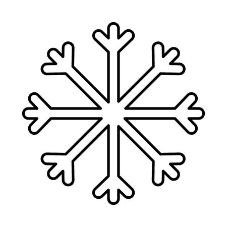 snowflake decoration merry christmas line style  イラスト・ベクター素材