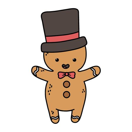 gingerbread man with black hat decoration merry christmas