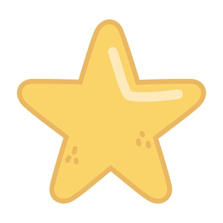 gold star decoration icon on white background