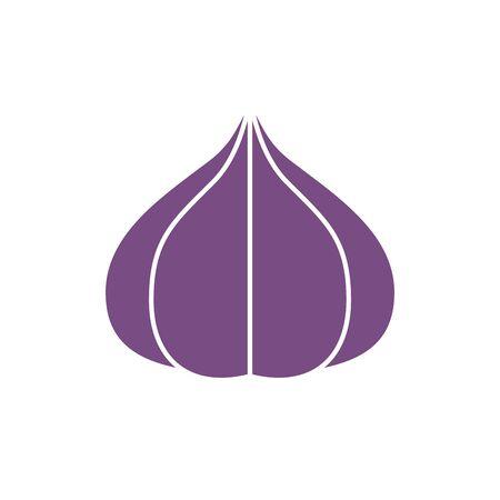 garlic design, Vegetable organic food healthy fresh natural and market theme Vector illustration Stock Illustratie