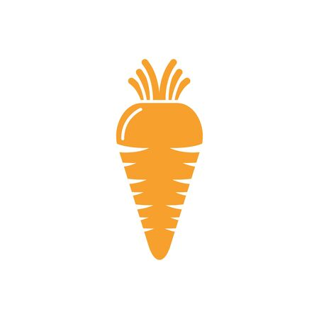 Isolated carrot vegetable vector design