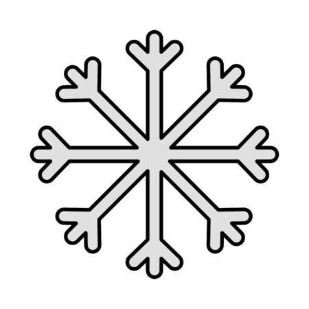gray snowflake decoration merry christmas vector illustration