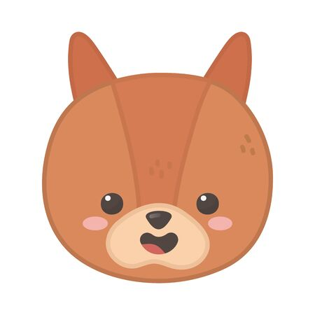 cute squirrel animal on white background  イラスト・ベクター素材