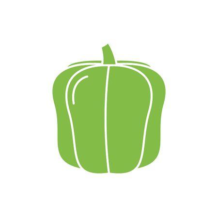 Isolated pepper vegetable vector design Illustration