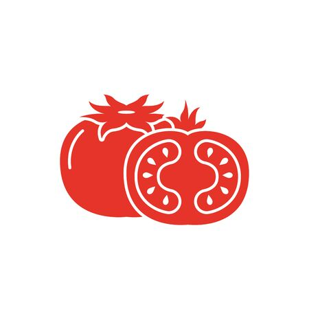 Isolated tomato vegetable vector design