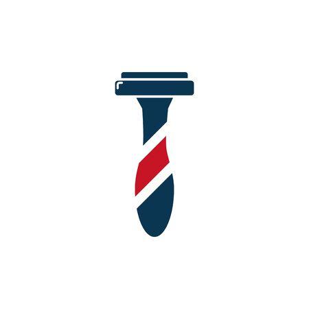 barber shop accessory icon design Ilustração