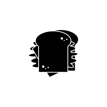 sandwich fast food line style icon Ilustração
