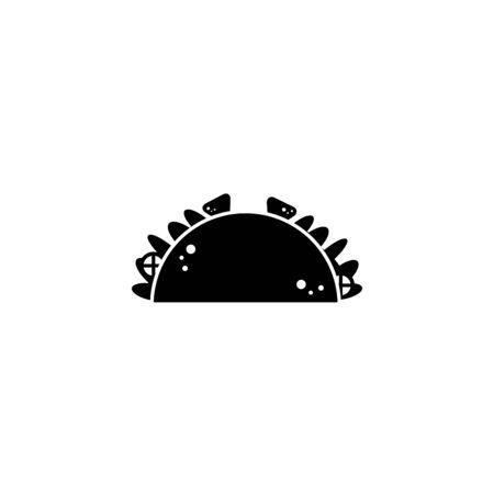 taco fast food line style icon Ilustração