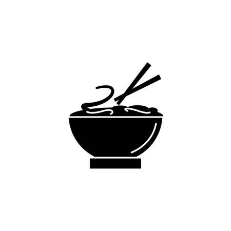 Spaghetti fast food line style icon