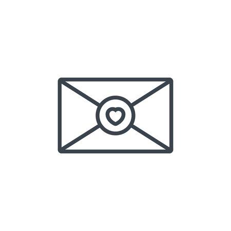 email envelope heart icon line design Ilustrace