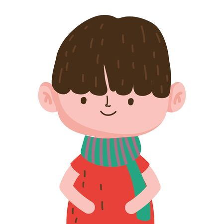 Boy cartoon design, Kid childhood little people lifestyle and person theme Vector illustration
