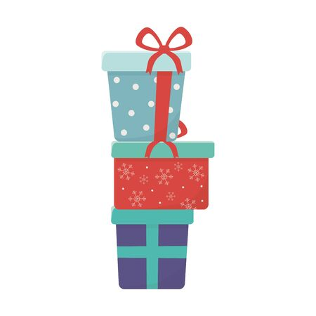 stacked gift boxes celebration merry christmas