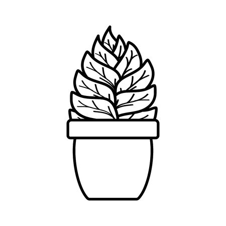 house plant in ceramic pot vector illustration design