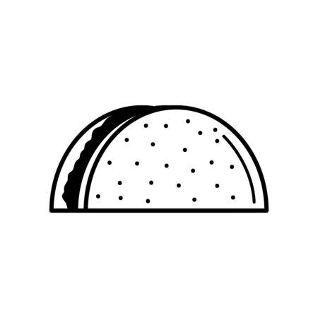black and white food bbq design