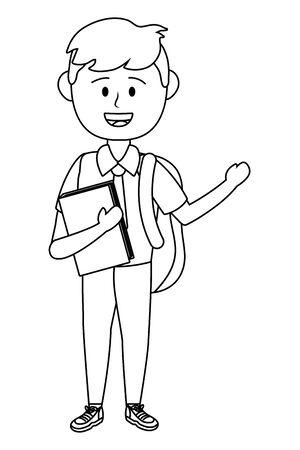 Boy kid of school design vector illustrator