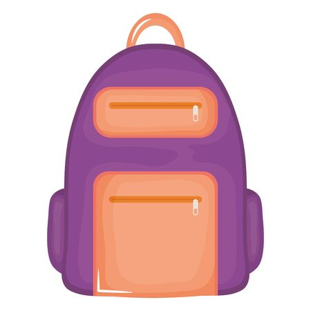 schoolbag supply education isolated icon vector illustration design