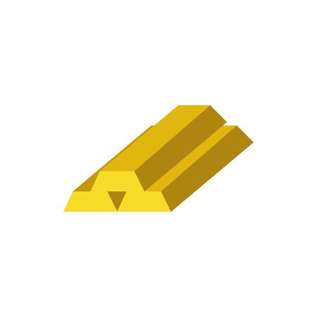 Isolated golden bars icon flat vector design