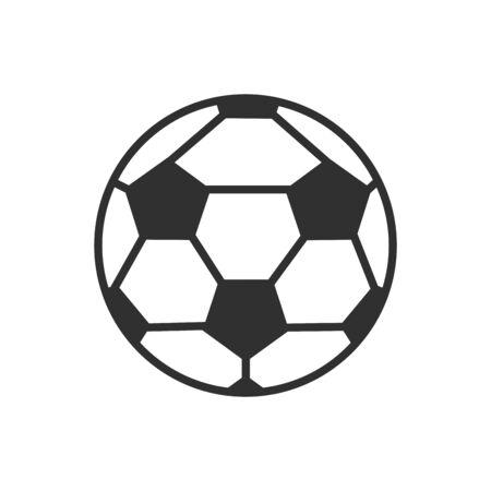 Isolated ball of soccer flat vector design Ilustração