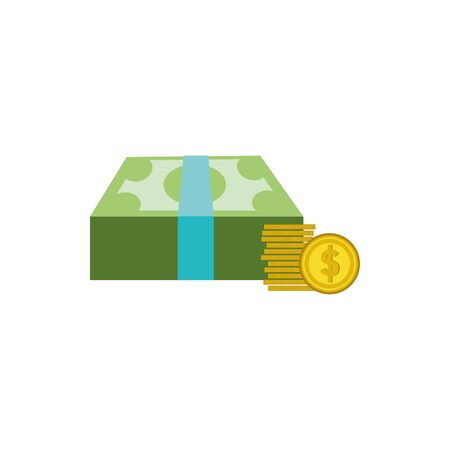 bills and coins design, Money finance commerce market payment invest and buy theme Vector illustration
