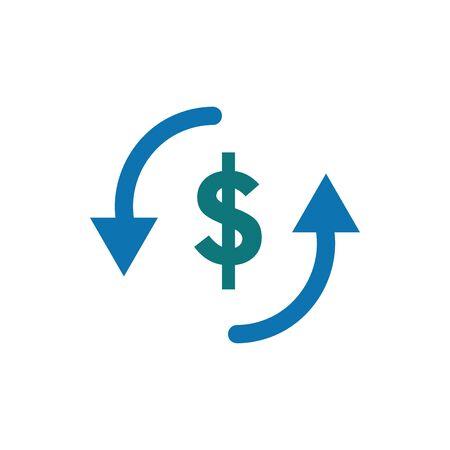 Isolated money icon flat vector design
