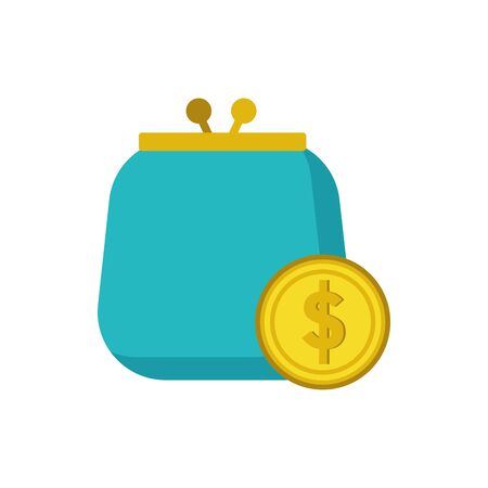 Coin and wallet design, Money finance commerce market payment invest and buy theme Vector illustration
