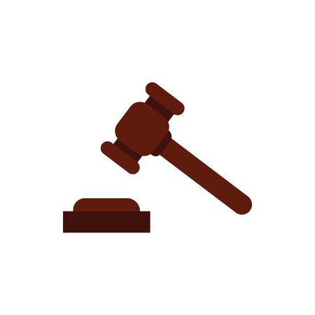Hammer design, Law justice legal judgment judicial authority freedom and crime theme Vector illustration Ilustração
