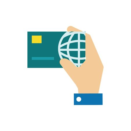 Credit card design, Money finance commerce market payment invest and buy theme Vector illustration