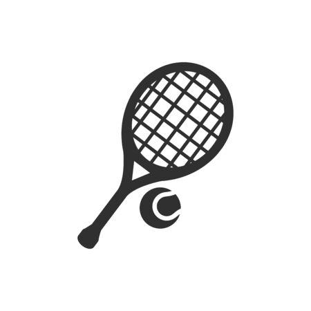 Isolated tennis racket flat vector design
