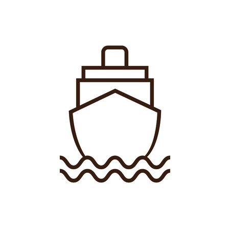 ship icon design, transportation drive travel traffic speed road and drive theme Vector illustration