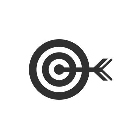 Isolated archery target flat vector design Ilustração